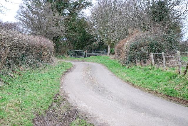 Lane to South Farm