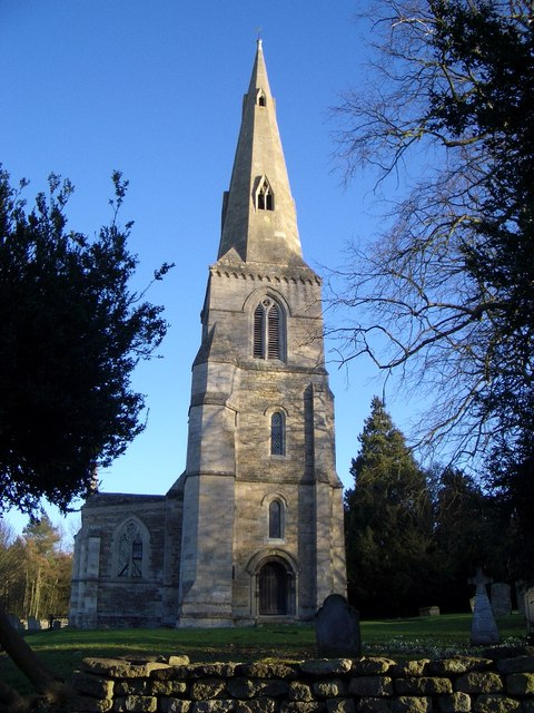 The Tower & Spire of St John's at Achurch