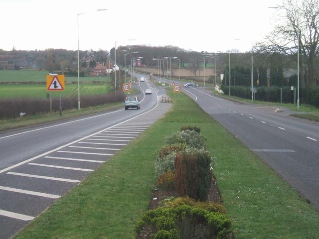 Lichfield Road looking back towards Walsall