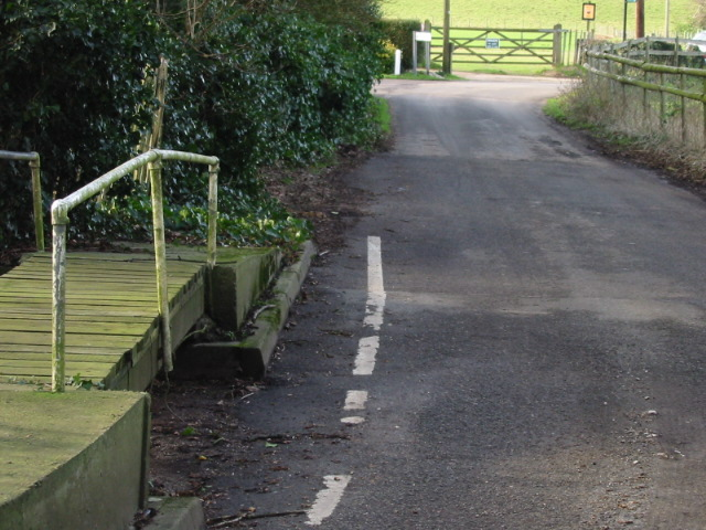 Footbridge over dried up stream, Bishopsbourne.