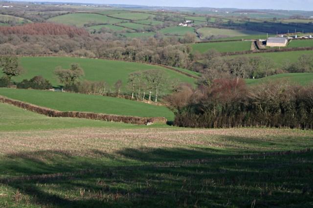 Farmland west of Langore