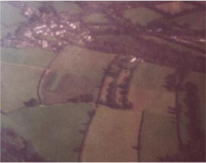 Aerial view Latchley village
