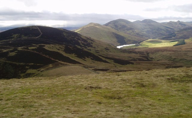 Castlelaw and the southern Pentlands viewed from Allermuir