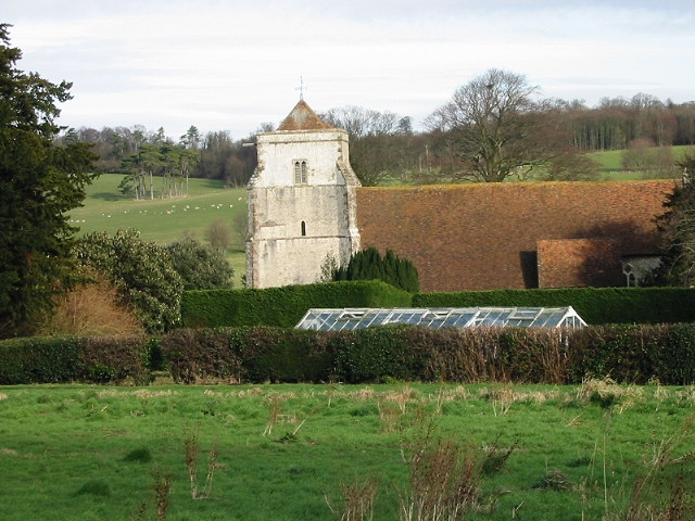 Bishopsbourne church from the SW.