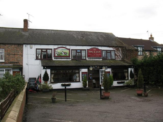 The Dog and Gun pub in Carlton Miniott