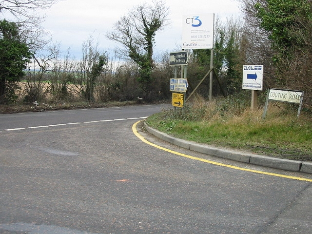 Junction of Cooting Road with the B2046