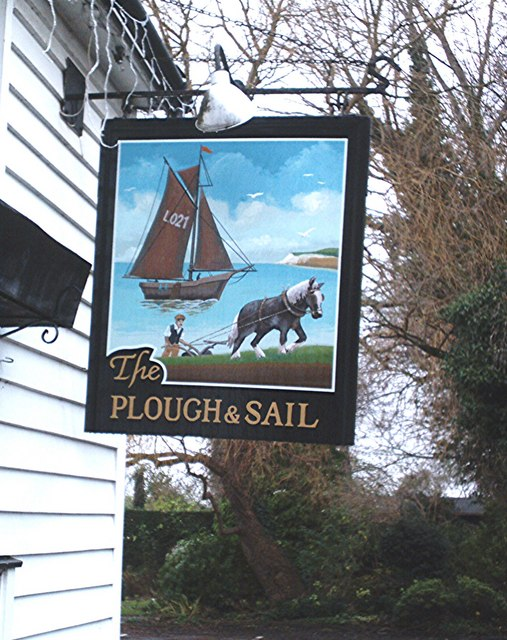 Pub sign - Plough and Sail