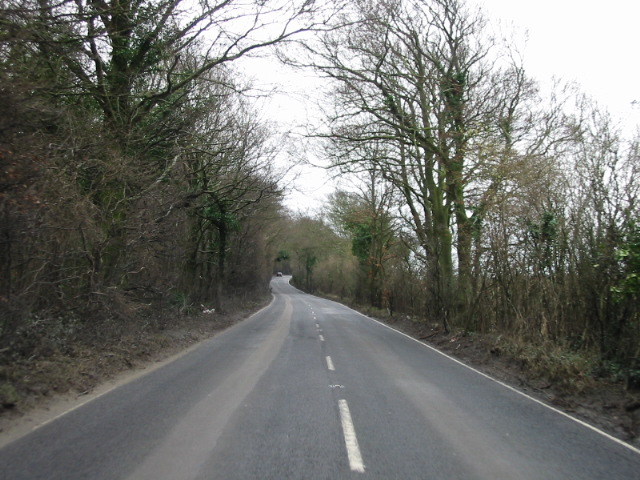 View looking SW along the B2046 near Aylesham.