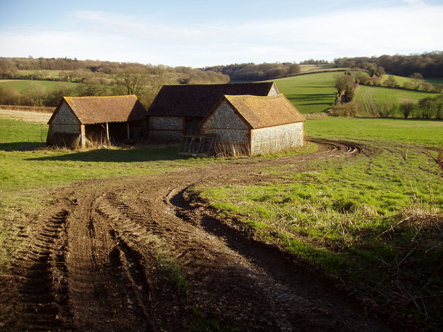 Farm Buildings on the Hall Lane Track