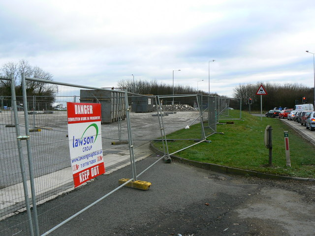 Demolished petrol station, A419, Swindon
