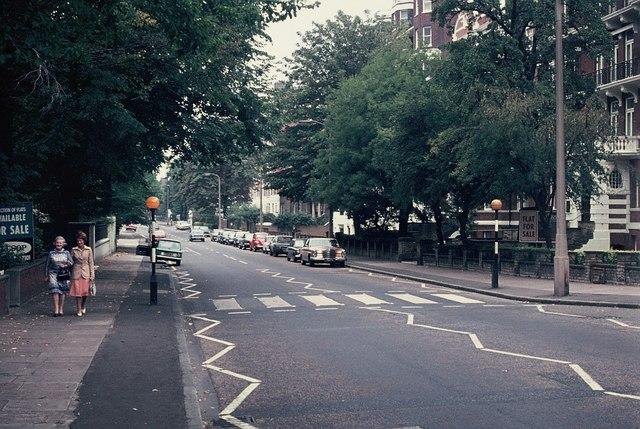 Beatles' Zebra Crossing in Abbey Road, NW8
