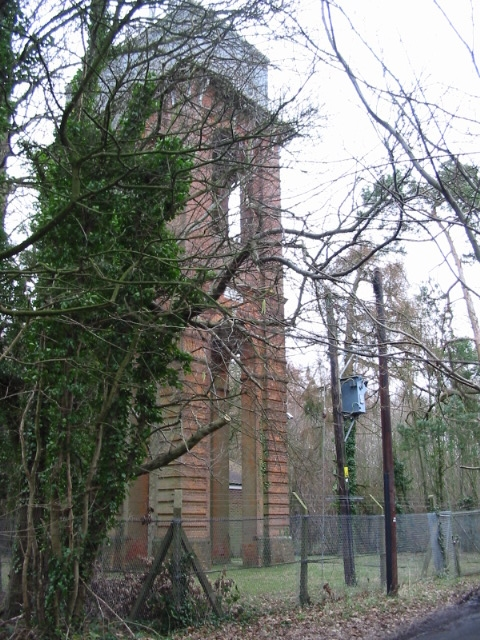 The water tower at Woodlands Wood.