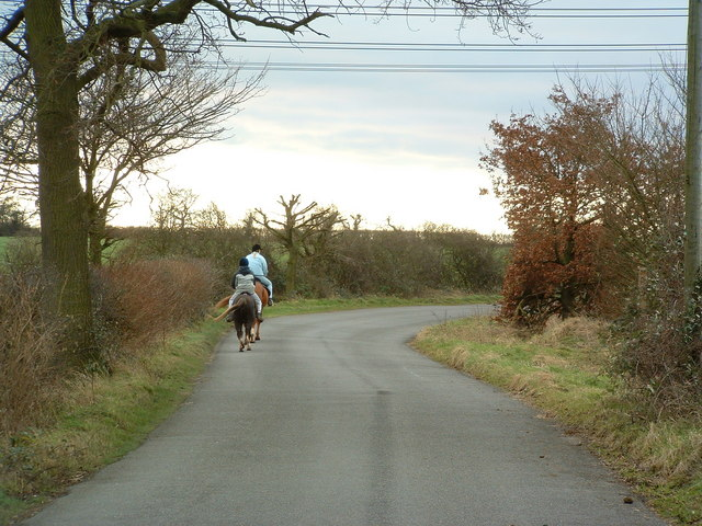 Horse Riders And Country Lane