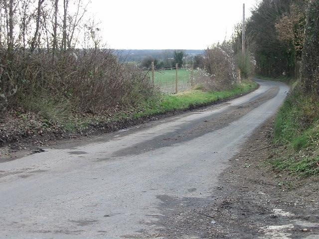 Looking N along Brambling Road.