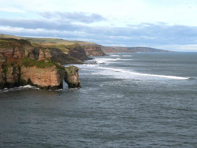 Coastline at Needles Eye, North of Berwick