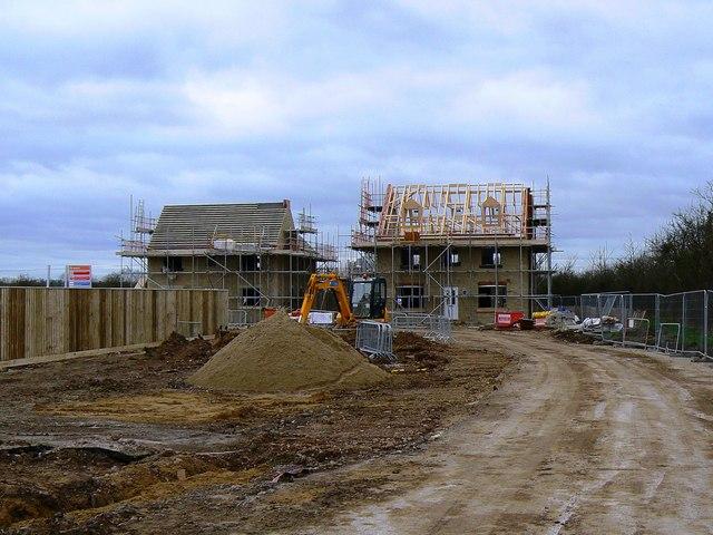 New housing under construction, Southwold Close, Swindon