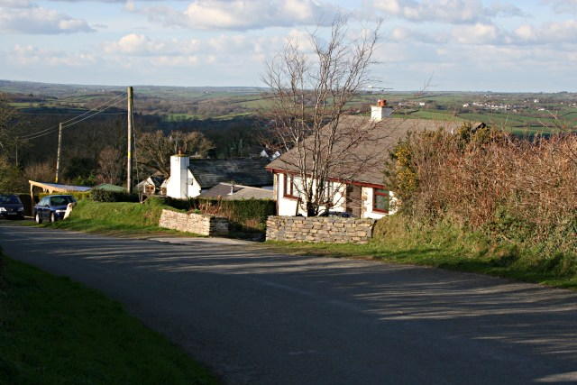 Houses on the edge of Langore
