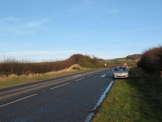 A684 slip road at Ellerbeck