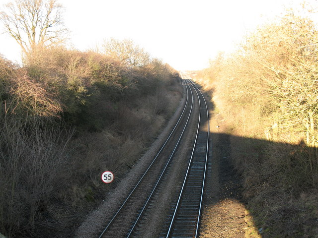 Railway line from Fullicar Lane bridge.