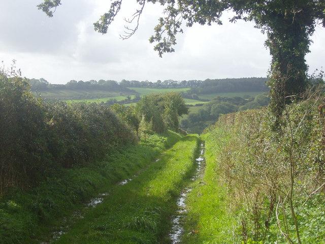Footpath above Rowe Farm