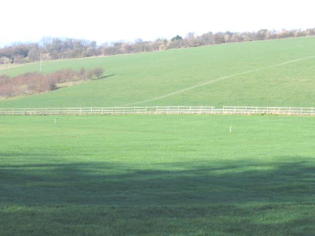 Cricket field in winter