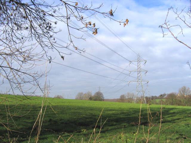 Electricity Pylons, Cobhambury