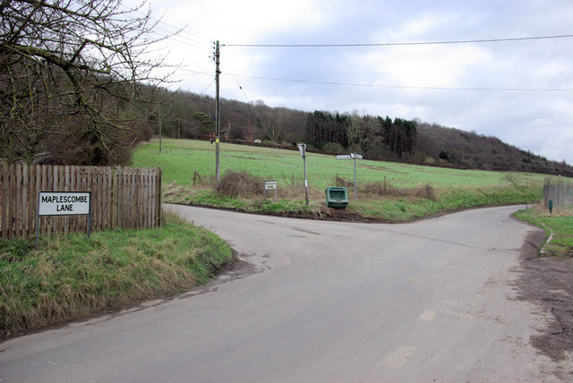 A Chalk Valley Lane Junction