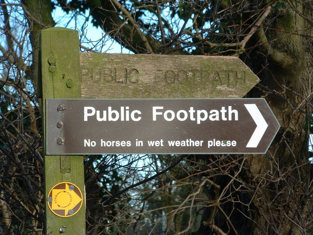 Public Footpath For horses