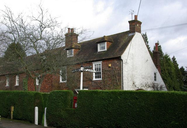 Cottages and Fingerpost,  Ash