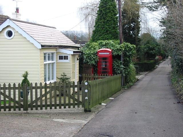 Telephone box on Church Lane, Kingston.