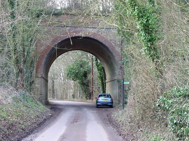 Bridge under the dismantled railway line, Kingston.