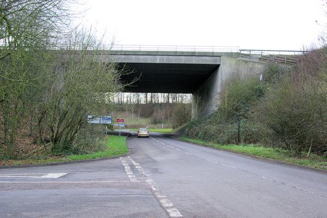 M20 Bridge over Brands Hatch Road