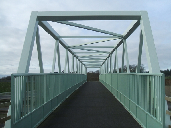 New foot and bridleway bridge over A38