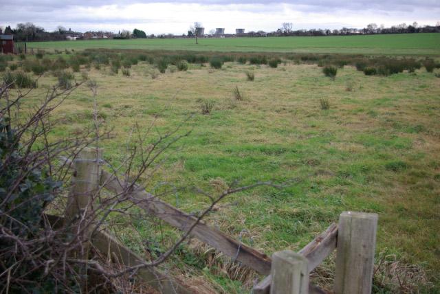 Farmland north of Findern