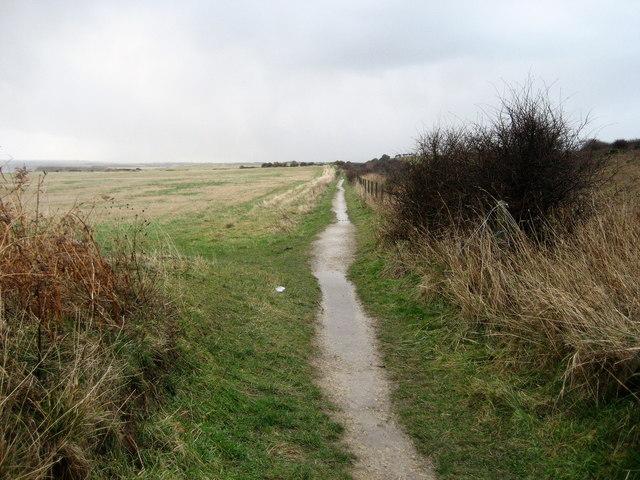 Footpath by County Durham Coastal Railway