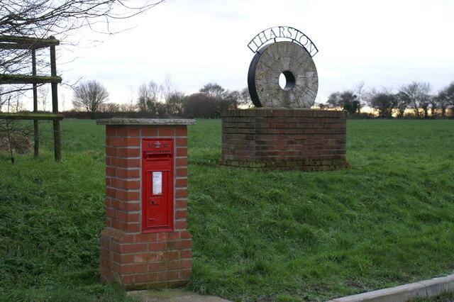 Village Sign & Post Box at Tharston