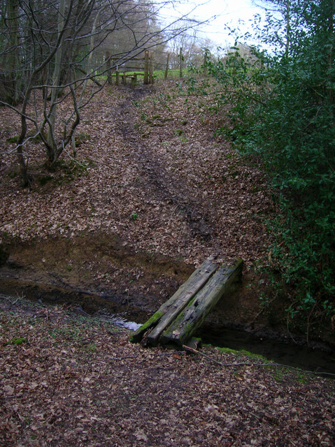 Footbridge over Unnamed Stream, The Lews