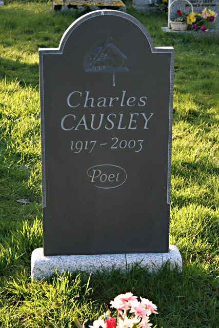 The Grave of Charles Causley in St Thomas Churchyard