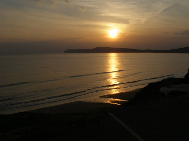 Sunset from Compton Bay