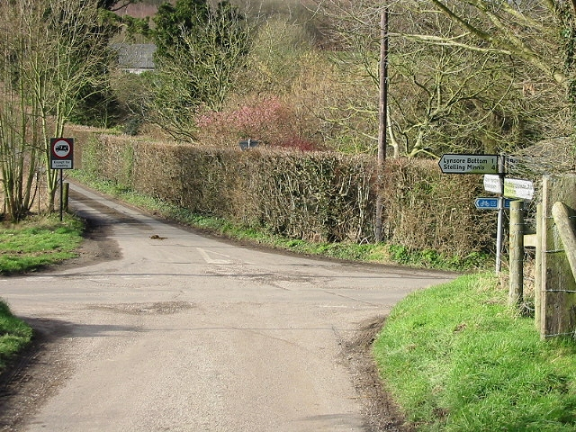 Junction of Bursted Hill, Woodgate and Pett Bottom roads.