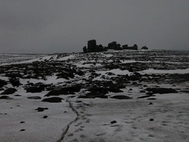 Wheel Stones in the snow