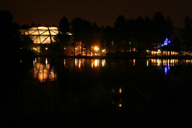 Night time at Center Parcs