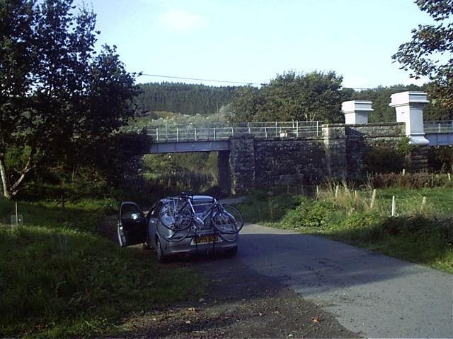 Broken down at Logierait Bridge