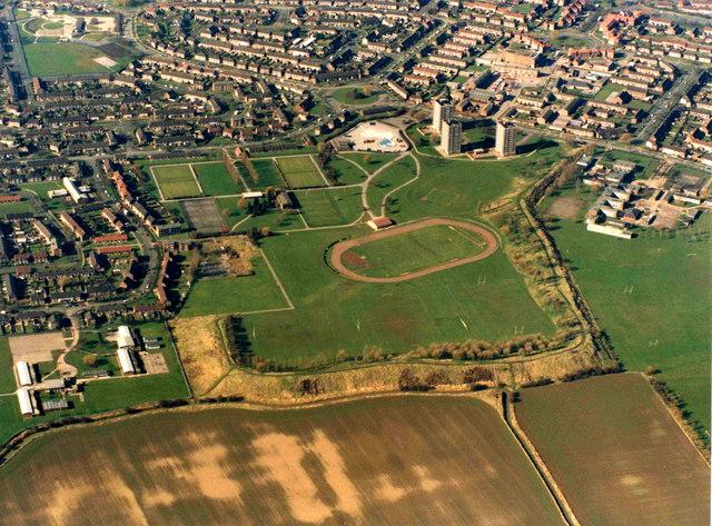 Aerial View of Bilton Grange, Hull