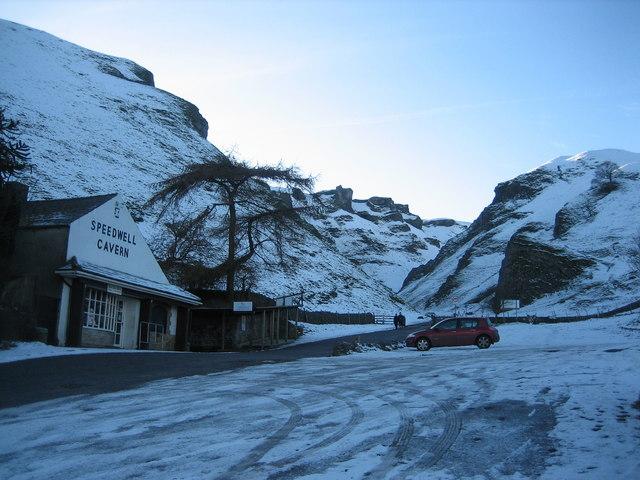 Winnats Pass in winter