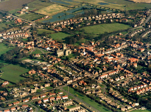 Aerial View of Hedon from the South West