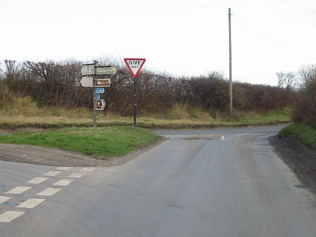 Junction of Pett Bottom, Station and Bridge roads.