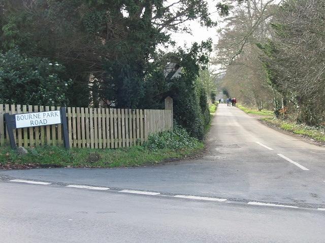 View along Bourne Park Road.