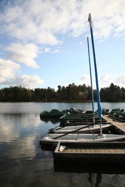 Idle pleasure boats