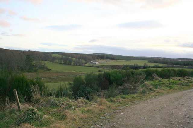 Looking towards Burntack from the slopes of Romach Hill.